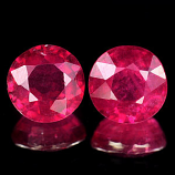 Genuine Ruby Pair (2) 1.14ct