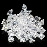 Genuine 100% Natural Set WHITE SAPPHIRES (50) 1.65cts 1.7 x 1.7 x 1.5mm Square Cut