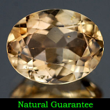 Genuine 100% Natural Champagne Topaz 2.20ct 9.0 x 7.0mm Brazil SI