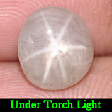 Genuine 100% Natural Cabachon White Star Sapphire 4.38ct 9.7 x 8.7mm Oval Opaque