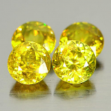 Genuine 100% Natural (4) Sphene 0.59ct 4.9x4.9.0x3.6mm VS1 Madagascar