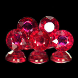 Genuine Rubies .42ct 4.4 x 4.4mm Round VSI Clarity