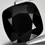 Genuine 100% Natural Black Spinel 2.30ct 8.3x8.2mm Cushion Opaque Thailand