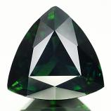 Genuine 100% Natural Green Tourmaline 3.10ct 10.0 x 9.8mm Trillion Cut SI1 Clarity