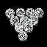 Genuine 100% Natural Set DIAMONDS VVS (10) 1.7 x 1.7mm Round Diamond Cut