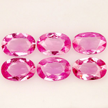 Genuine Pink Sapphire .46ct 6.0 x 4.0mm Madagascar VVS