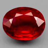 Genuine Ruby 2.39ct 8.8 x 7.0mm Oval SI Clarity