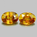 Genuine 100% Natural (2) Sphene 0.77ct 6.6x4.7x3.2mm VS1 Madagascar