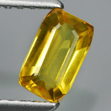 Genuine Yellow Sapphire .72ct 6.0 x 3.8mm Octagon VS1 Clarity