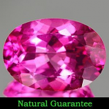 Genuine Pink Topaz 2.16ct 9.0 x 7.1 x 4.6mm Brazil IF