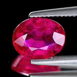 Genuine RUBY 1.53ct 7.5 x 5.9 x 3.6mm Oval