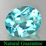 Genuine Swiss Blue Topaz 4.20ct 11.0 x 9.0mm Oval VS1 Clarity