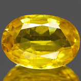 Genuine YELLOW SAPPHIRE 1.06ct 7.3 x 5.1 x 2.9mm Oval