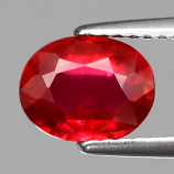 Genuine Ruby 1.97ct 8x6x3.9mm SI1 Mozambique