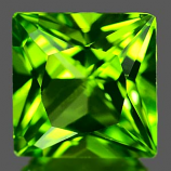 Genuine 100% Natural PERIDOT 1.82ct 7.0 x 6.9 x 4.6mm Princess Cut