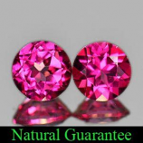 Genuine Pink Topaz 1.87ct (2) 6.0 x 6.0mm Brazil IF