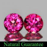 Genuine Pink Topaz 1.87ct (2) 6.0 x 6.0mm Brazil IF
