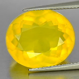 Genuine 100% Natural Yellow Opal 9.20ct 16.8 x 14.0mm Oval Semi Transparent