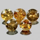 Genuine 100% Natural Imperial Zircon 0.56ct 4.8 x 4.8x3.5 VS1 Tanzania