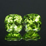 Genuine 100% Natural Peridot (2) 1.88ct 6.1 x 6.1 x 3.5mm VVS