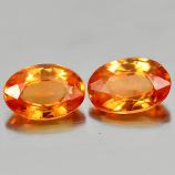 Genuine Orange Sapphire .56ct 6.0 x 4.0mm Oval VS1 Clarity