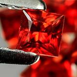 Genuine Set RED SAPPHIRES (10) 1.15cts 2.6 x 2.6 x 2.1mm Square Princess Cut