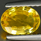 Genuine YELLOW SAPPHIRE .73ct 6.9 x 5.1 x 2.4mm Oval
