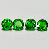 Genuine 100% Natural Chrome Diopside .44ct 5.0 x 5.0mm Round VVS Clarity