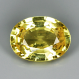 Genuine Yellow Sapphire .86ct 6.6 x 5.0mm SI