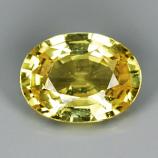 Genuine Yellow Sapphire .86ct 6.6 x 5.0mm SI
