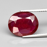 Genuine RUBY 3.73ct 12.0 x 9.8mm Oval SI2 Clarity
