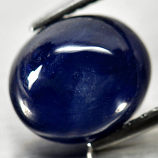 Genuine Cabochon Blue Sapphire 3.88ct 9.3x7.9x5.2mm Opaque Madagascar