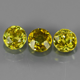 Genuine 100% Natural (3) Sphene 1.27ct 4.5x4.5mm SI1 Madagascar