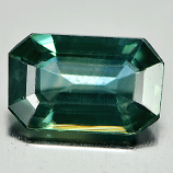 Genuine Green Sapphire .76ct 6.9 x 4.3mm Octagon VS1 Clarity