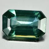 Genuine Green Sapphire .76ct 6.9 x 4.3mm Octagon VS1 Clarity