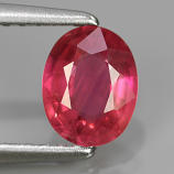 Genuine Pink Sapphire .76ct 6.3 x 5.0mm Oval SI1 Clarity Mozambique