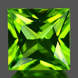 Genuine 100% Natural PERIDOT 1.67ct 7.0 x 7.0 x 4.3mm Princess Cut