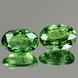 Genuine GREEN SAPPHIRES 0.70cts 6.0 x 3.9 x 3.0mm Ovals