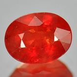 Genuine Orange Sapphire 1.07ct 6.8 x 5.1mm Oval VS1 Clarity