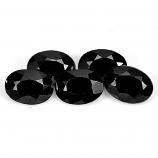 Genuine 100% Natural Black Spinel 1.01ct 7.2x5.2mm Opaque Thailand