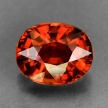 Genuine 100% Natural ORANGE TOURMALINE 1.08ct 7.0 x 5.7 x 3.9mm Oval