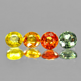 Genuine (4) Sapphires 1.17cts 4.0x4.0 VVS Tanzania