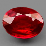 Genuine Ruby 1.69ct 8.0 x 6.1mm Oval SI Clarity