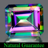 Genuine MYSTIC GREEN TOPAZ 7.31ct 12.0 x 10.0 x 6.7mm Octagon
