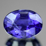 Genuine 100% Natural Blue Iolite 1.13ct 8.1 x 6.0mm Madagascar SI
