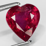Genuine Ruby 1.48ct 7.2 x 6.5mm Heart SI2 Clarity