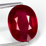 Genuine Ruby 3.83ct 10.0 x 8.0mm Oval I1 Clarity