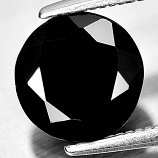 Genuine 100% Natural Black Spinel 1.84ct 8.0x8.0mm Opaque Thailand