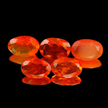 Genuine 100% Natural Fire Opal .22ct 6.1 x 4.1 x 2.5mm Mexico VVS