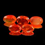 Genuine 100% Natural Fire Opal .22ct 6.1 x 4.1 x 2.5mm Mexico VVS